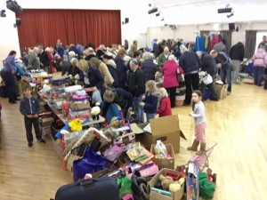 Jumble sale in full swing.